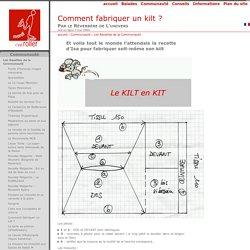 Kilt - Comment en fabriquer un ? [Mardi, c'est Roller]