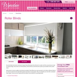 Custom Window Roller Blinds - Wynstan