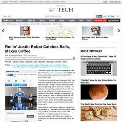 Rollin' Justin Robot Catches Balls, Makes Coffee