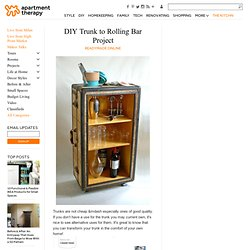 DIY Trunk to Rolling Bar Project ReadyMade Online