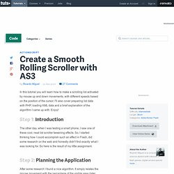 Create a Smooth Rolling Scroller with AS3
