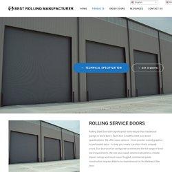 ROLLING SERVICE DOORS – Best Rolling Manufacturer