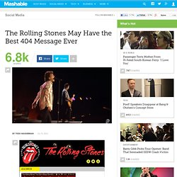 The Rolling Stones May Have the Best 404 Message Ever