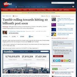 Tumblr rolling towards hitting 10 billionth post soon