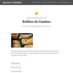 Rollitos de Gambas – Recetas FODMAP