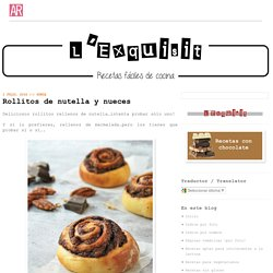 Rollitos de nutella y nueces
