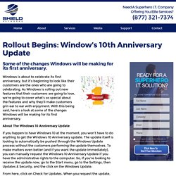 Rollout Begins: Window's 10th Anniversary Update