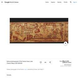 Mise à plat du vase Fenton. Période classique Maya. 600-800 ap JC.