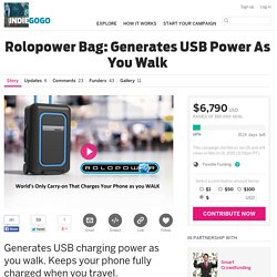 Rolopower Bag: Generates USB Power As You Walk