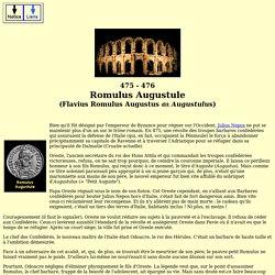 Emp romains - Romulus Augustule (Flavius romulus augustus)