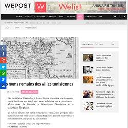Les noms romains des villes tunisiennes - WEPOST