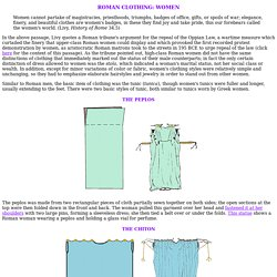 Roman Clothing, Part II