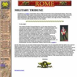 Roman Military Tribune