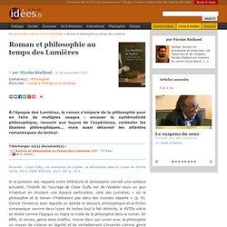 Roman et philosophie au temps des Lumières