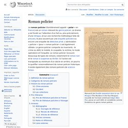 Roman policier