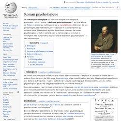 Roman psychologique