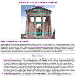 Roman Social Class and Public Display