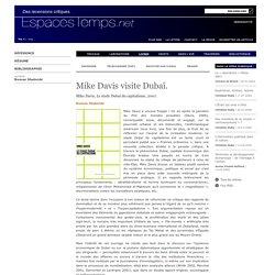 Roman Stadnicki : Mike Davis visite Dubaï.