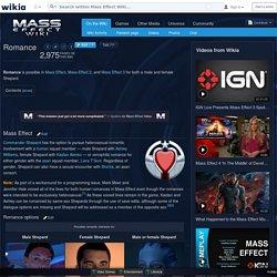 Romance - Mass Effect Wiki - Mass Effect, Mass Effect 2, Mass Effect 3, walkthroughs and more. - Wikia