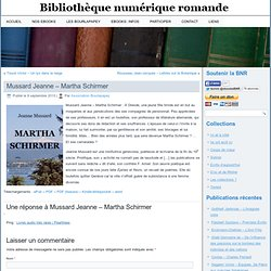 Mussard Jeanne - Martha Schirmer