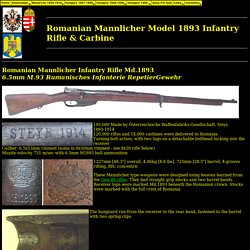 Romanian Mannlicher M1893 Infantry Rifle
