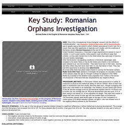 Romanian Orphans Investigation