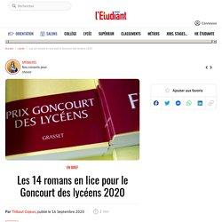 Les 14 romans en lice pour le Goncourt des lycéens 2020