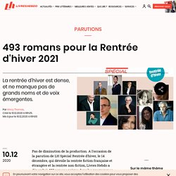 493 romans pour la Rentrée d'hiver 2021...