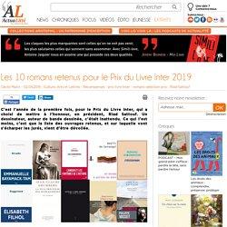 Les 10 romans retenus pour le Prix du Livre Inter 2019