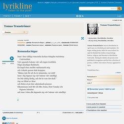 Romanska bågar (Tomas Tranströmer) · Lyrikline.org