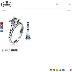 Romantic Bejewelled Diamond Eiffel Tower Ring – Rebel Style Shop