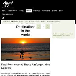 Best Romantic Destinations in the World