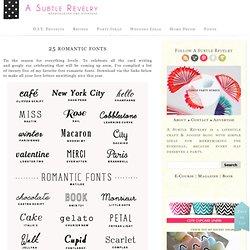 25 romantic fonts