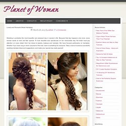Lovely and Romantic Bridal Hairstyles