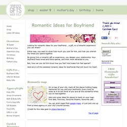 Romantic Ideas for Boyfriend