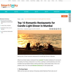 Top 10 Romantic Restaurants for Candle Light Dinner in Mumbai