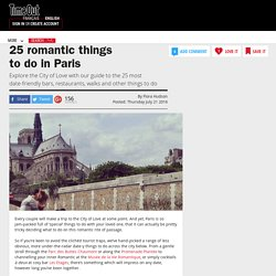 25 romantic things to do in Paris