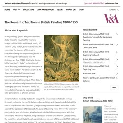 The Romantic Tradition in British Painting 1800-1950