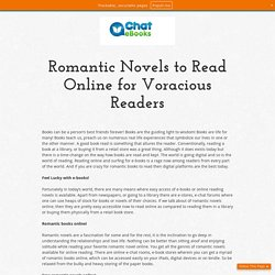 Romantic Novels to Read Online for Voracious Readers