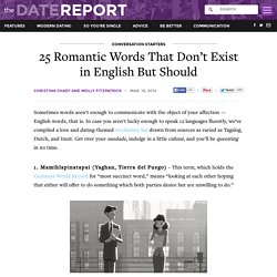 25 Romantic Words That Don't Exist in English But Should