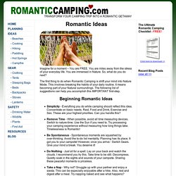 RomanticCamping.com - Romantic Ideas For Camping