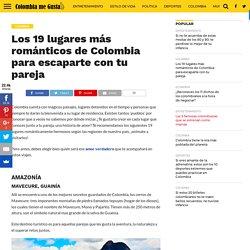 Los 19 lugares más románticos de Colombia para escaparte con tu pareja - Colombia me gusta