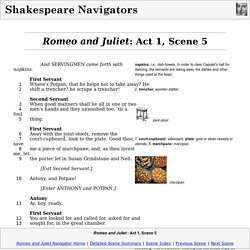 ROMEO AND JULIET, Act 1 Scene 5