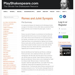 Romeo and Juliet Synopsis