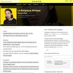 RoméoElvis – La Belgique Afrique Lyrics