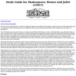 an analysis of the story of romeo and juliet a play by william shakespeare The feminist approach in the story romeo and  the story romeo and juliet by william shakespeare  analysis of shakespeare's romeo and juliet.