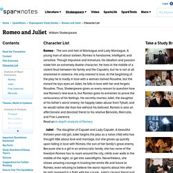 Romeo and Juliet: Character List