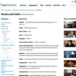 Romeo and Juliet: Key Facts