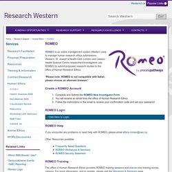 ROMEO - Research Western
