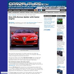 New Alfa Romeo Spider with faster engine